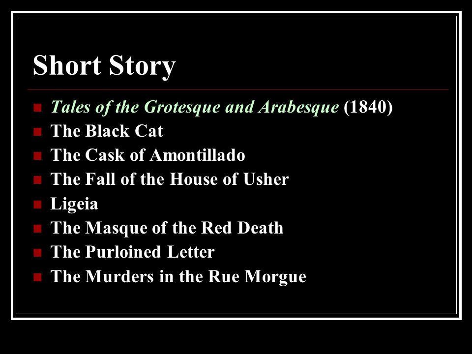 comparision black cat and cask amontillado A comparison between tell tale heart and the cask of amont essays during his lifetime, edgar allen poe wrote a number of short stories in many of his works, such.