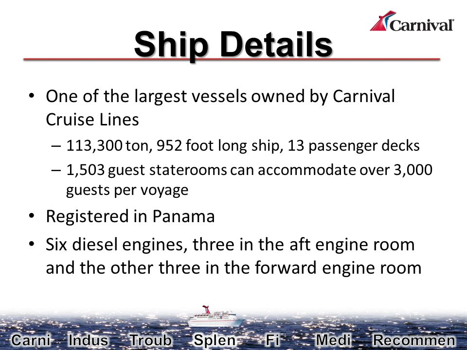 Carnival Cruise Lines Fire Aboard A Stranded Cruise Ship Ppt Video Online Download