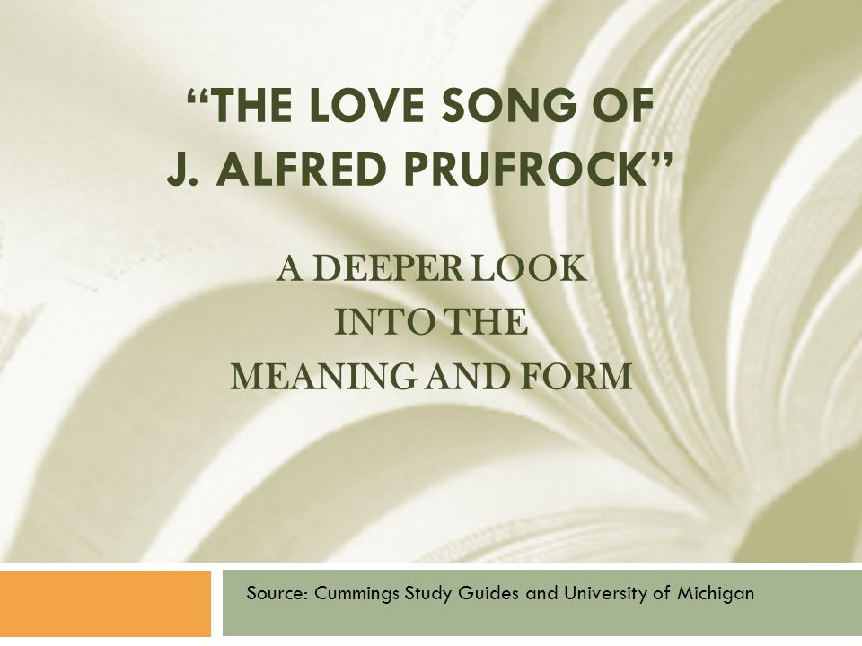 the love song of j alfred