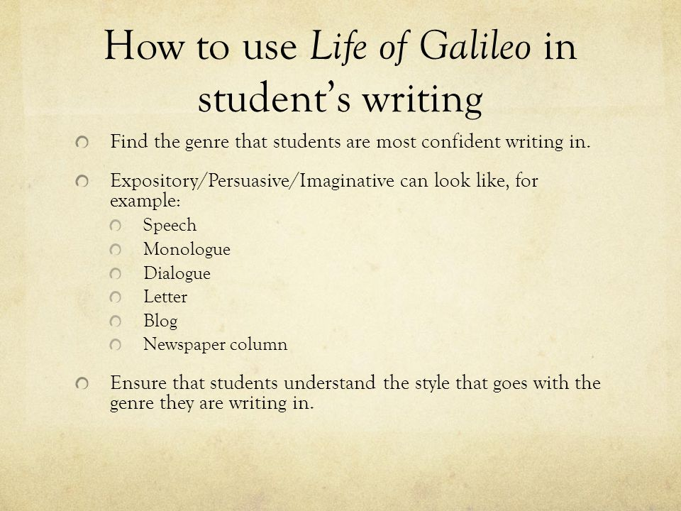 encountering conflict ppt video online  how to use life of galileo in student s writing