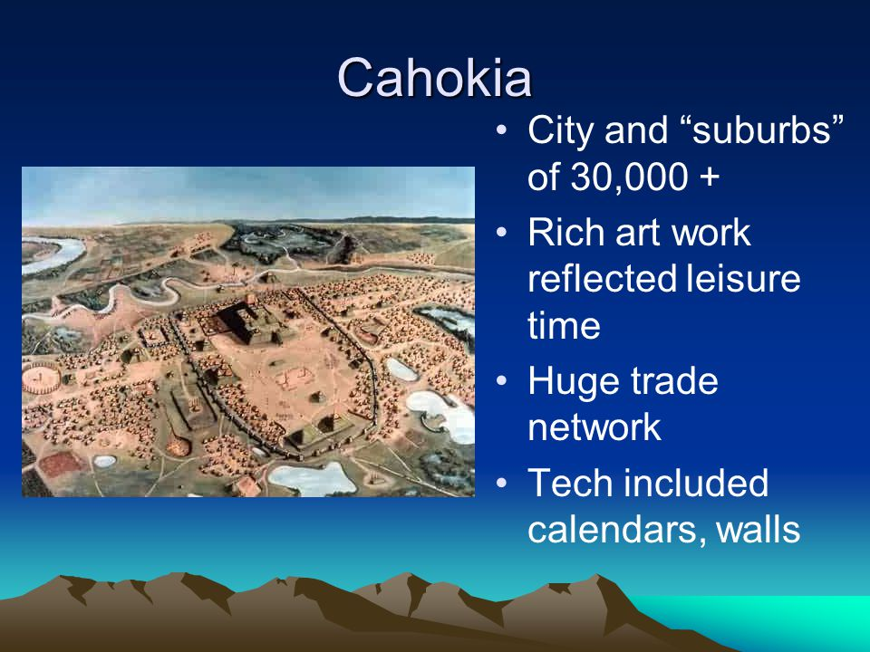 Cahokia City and suburbs of 30,000 +