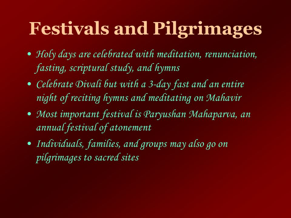Festivals and Pilgrimages