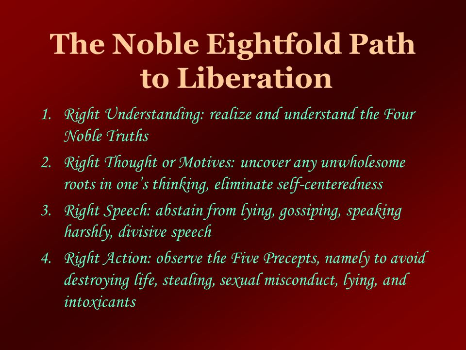 The Noble Eightfold Path to Liberation