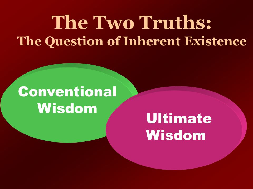 The Two Truths: The Question of Inherent Existence