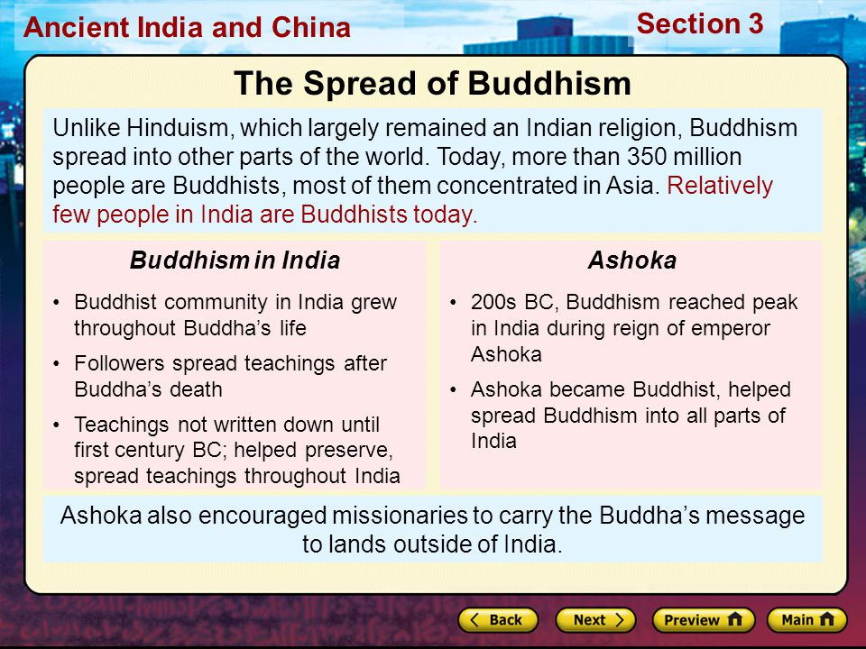 the spread of buddhism and christianity essay It was the age of the buddha, after whose death a religion developed that  eventually spread far beyond its homeland siddhartha, the prince who was to  become.