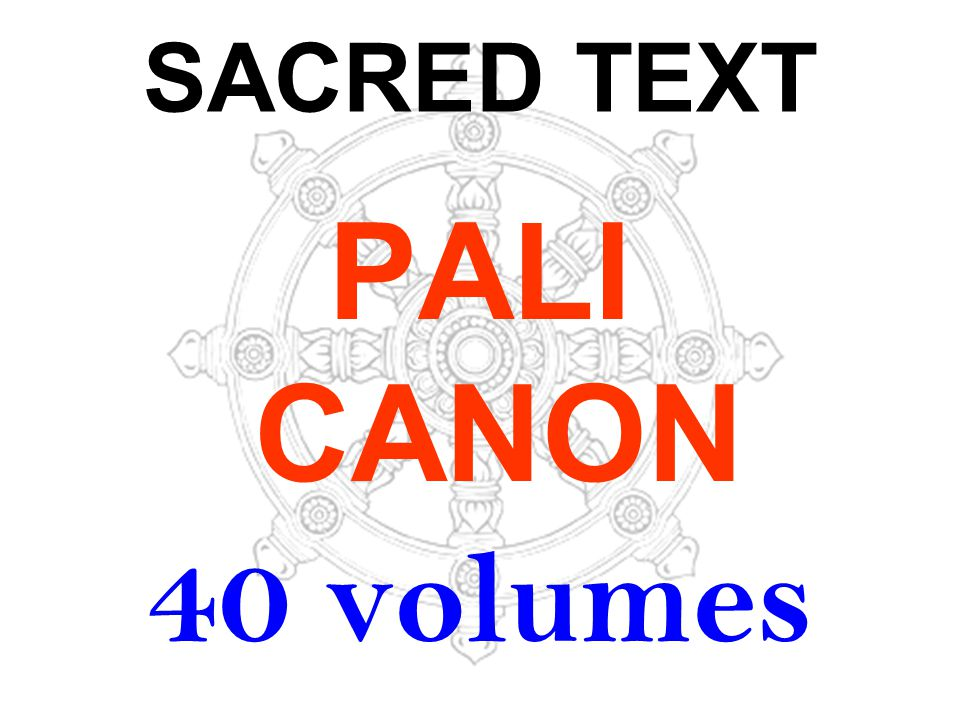 SACRED TEXT PALI CANON 40 volumes