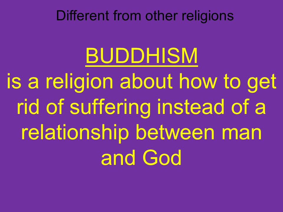 Different from other religions