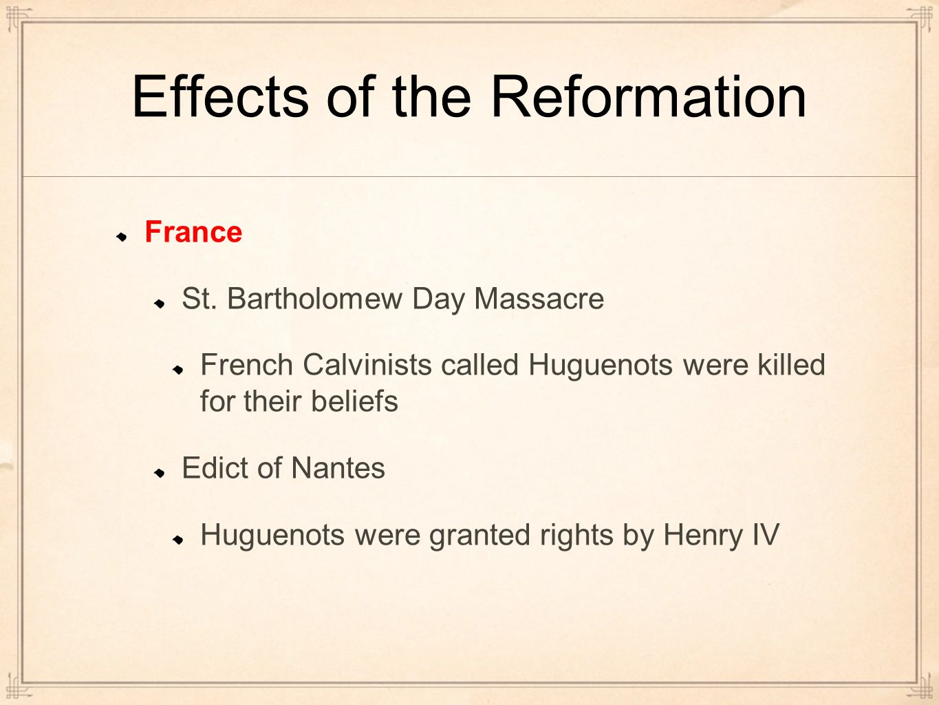 effects of the reformation The role of the protestant reformation in the history of the united states of america.