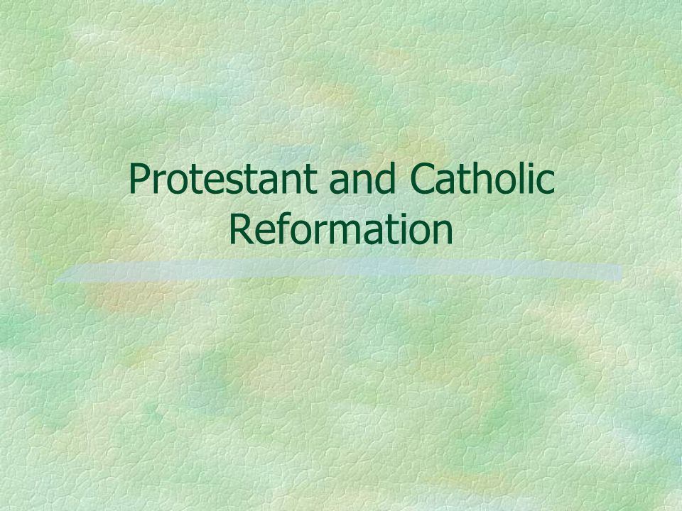 an introduction to the protestant reformation and the counter reformation in europe An introduction to the (protestant) reformation resulted in emergence of protestant christianity in europe the counter-reformation.