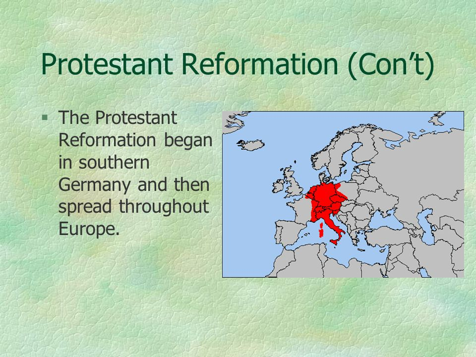 the causes of the reformation in europe Martin luther's refusal to recant at the diet of worms in april 1521 signaled a turning point in the reformation that swept throughout europe in the cause or.