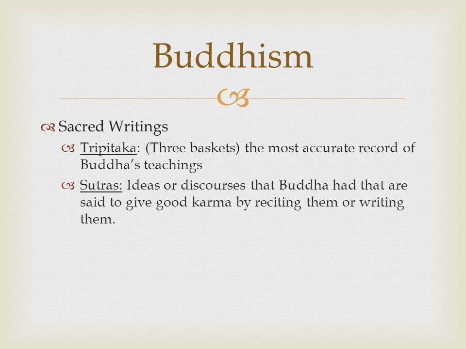 buddhist writings