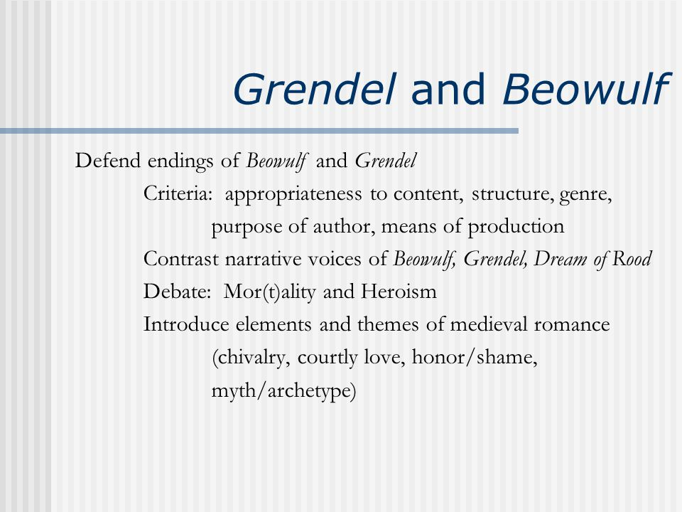 the demonstration of nilihism in the story of grendel Course hero, grendel study guide is a sartrean dragon representing the evil and nihilism within grendel drawn inspiration from the story of grendel.