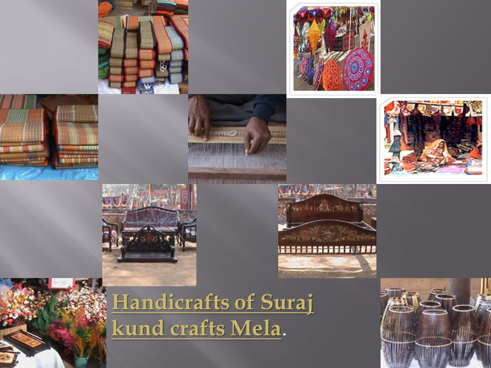 Handicrafts of Suraj kund crafts Mela.