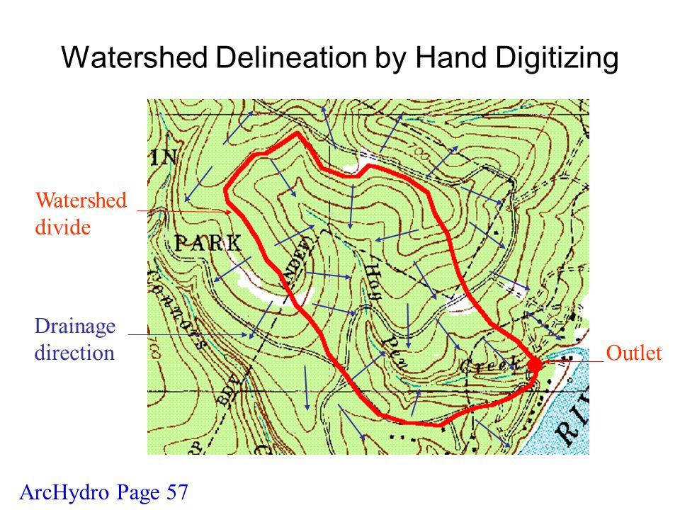 Watershed Delineation by Hand Digitizing