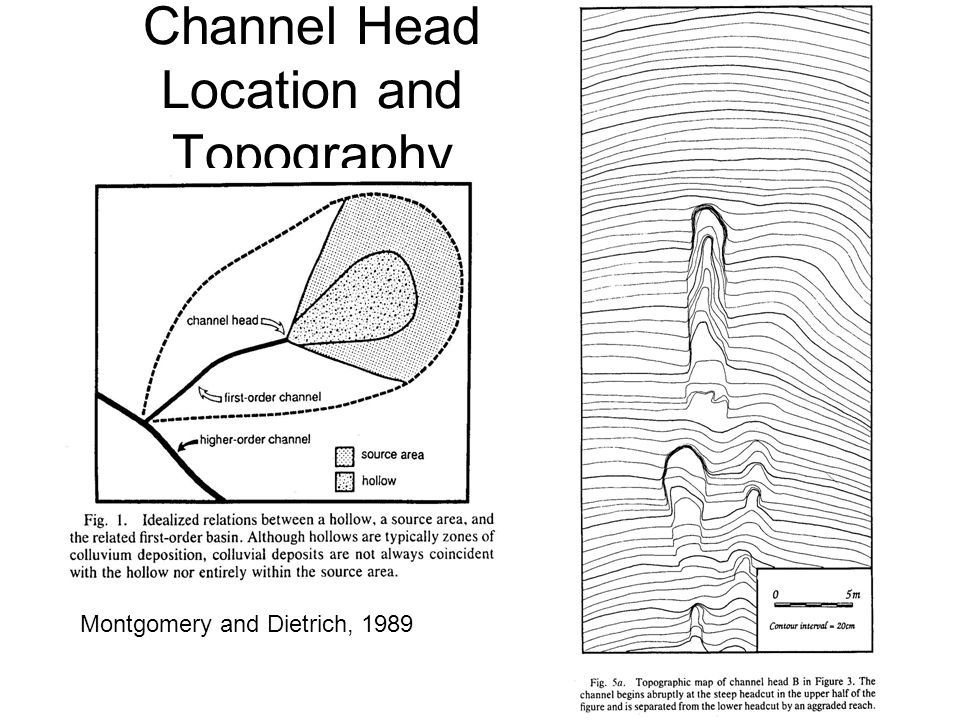 Channel Head Location and Topography