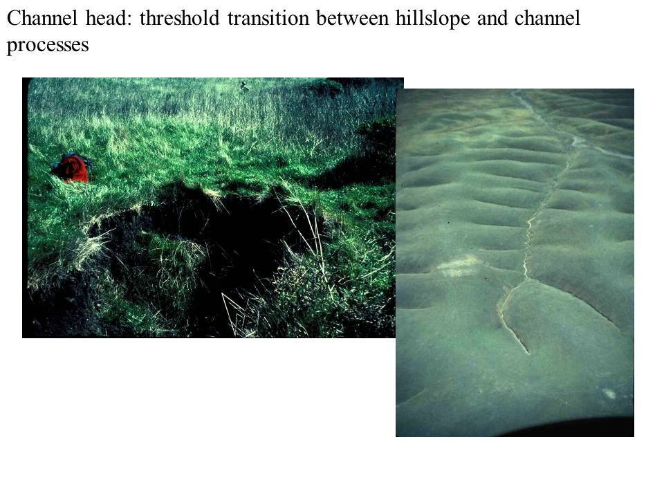 Channel head: threshold transition between hillslope and channel processes