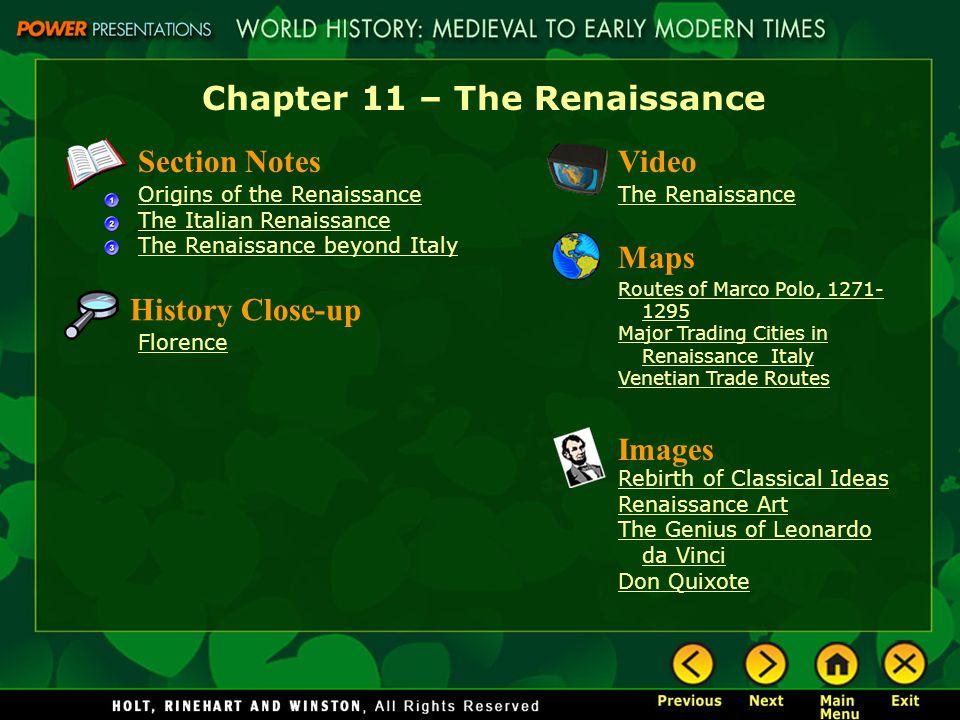 Chapter 11 The Renaissance