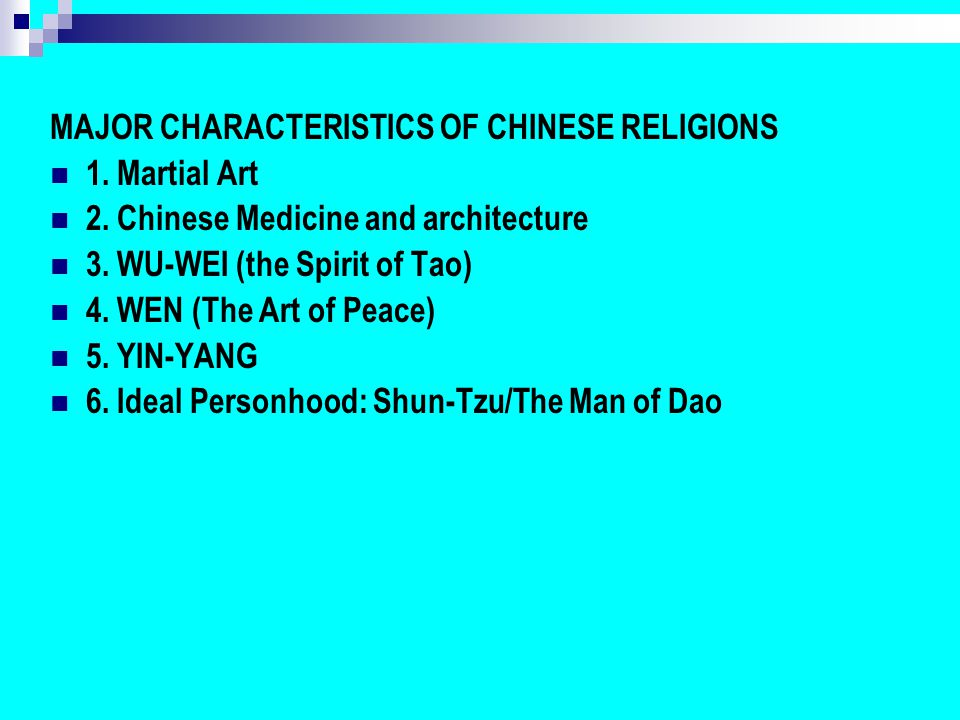 the characteristics of taoism a chinese religion Taoism (also known as daoism) is a chinese philosophy attributed to lao tzu (c  500 bce) which contributed to the folk religion of the people.