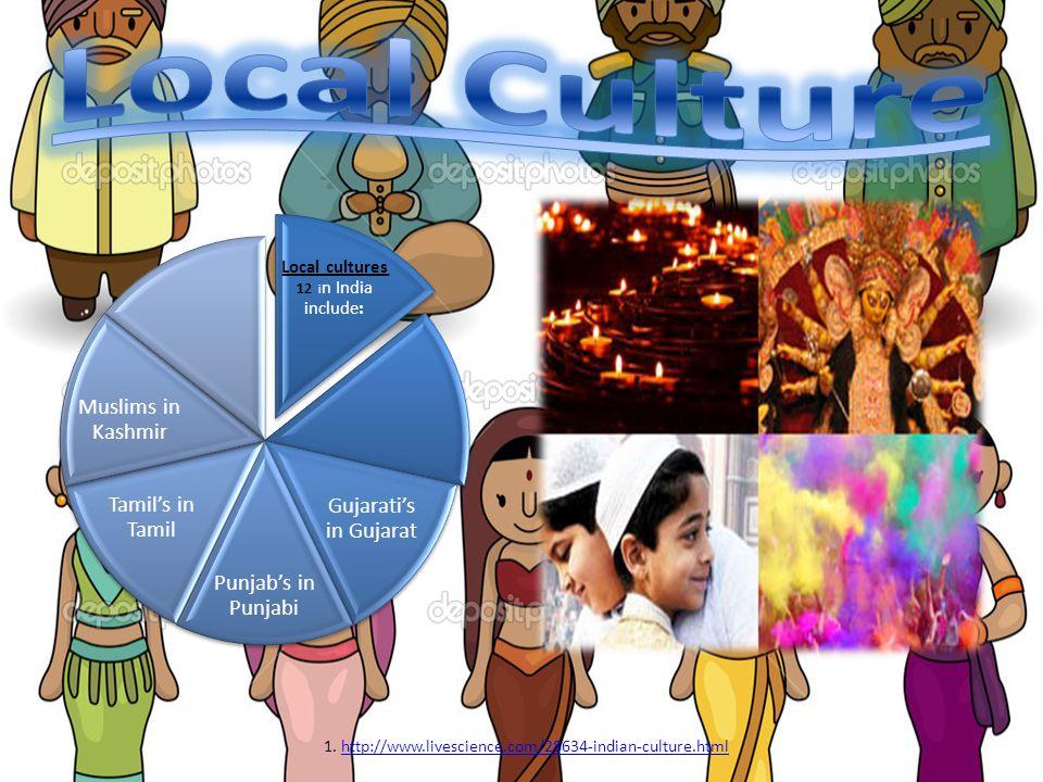 Local Culture Local cultures 12 in India include: