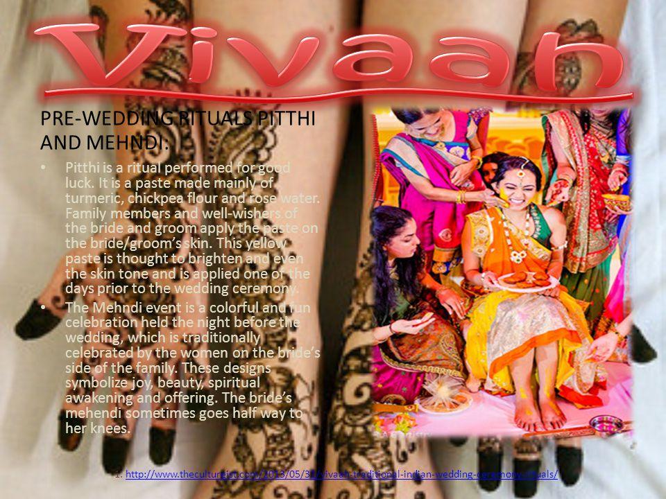 Vivaah PRE-WEDDING RITUALS PITTHI AND MEHNDI: