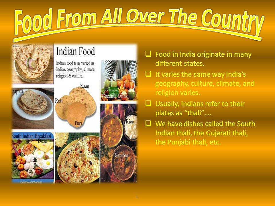 Food From All Over The Country