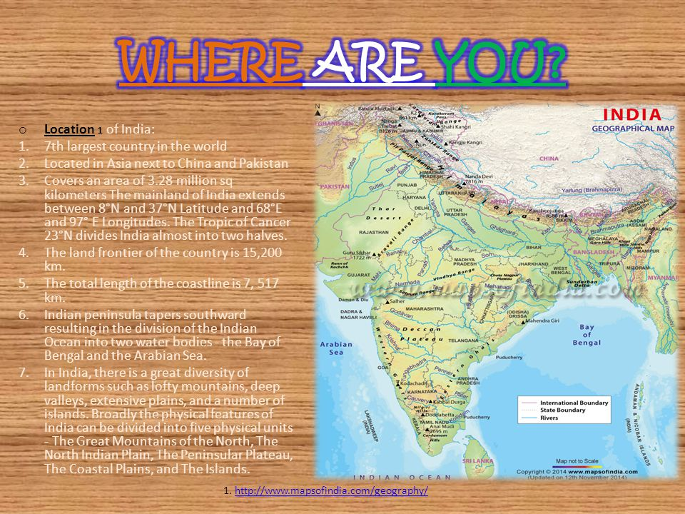 1. http://www.mapsofindia.com/geography/