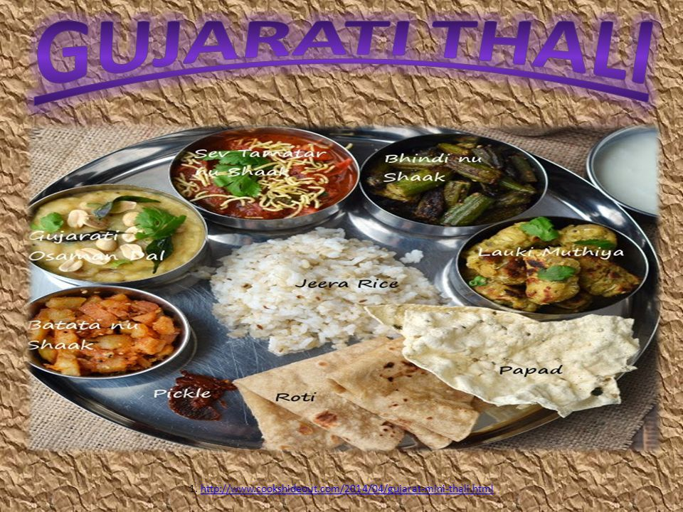 1. http://www.cookshideout.com/2014/04/gujarat-mini-thali.html