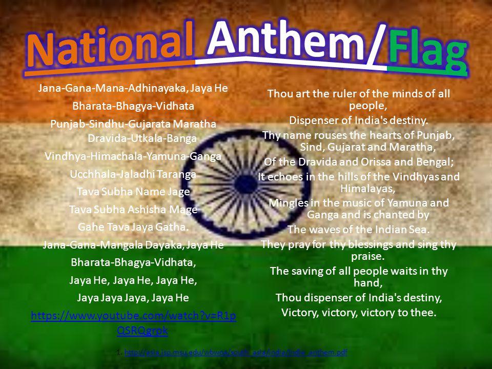 1. http://asia.isp.msu.edu/wbwoa/south_asia/india/India_anthem.pdf