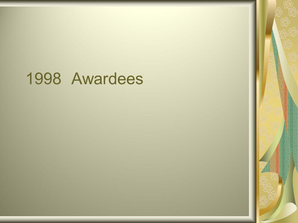 1998 Awardees