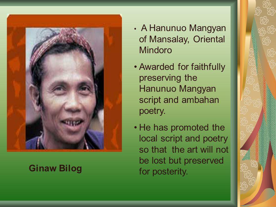 A Hanunuo Mangyan of Mansalay, Oriental Mindoro