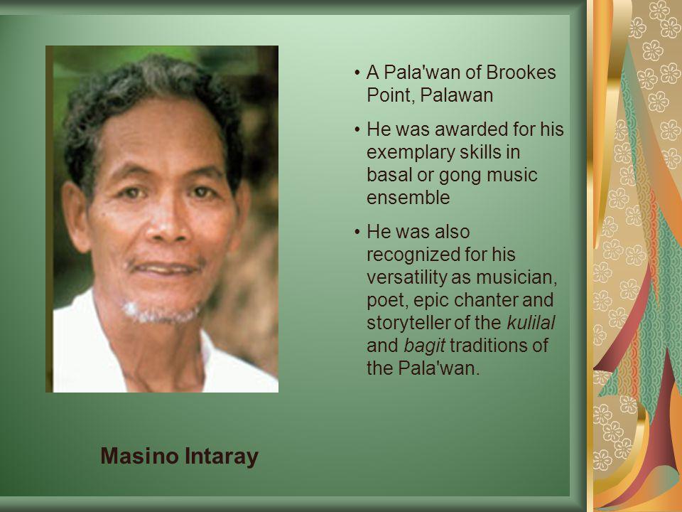 Masino Intaray A Pala wan of Brookes Point, Palawan