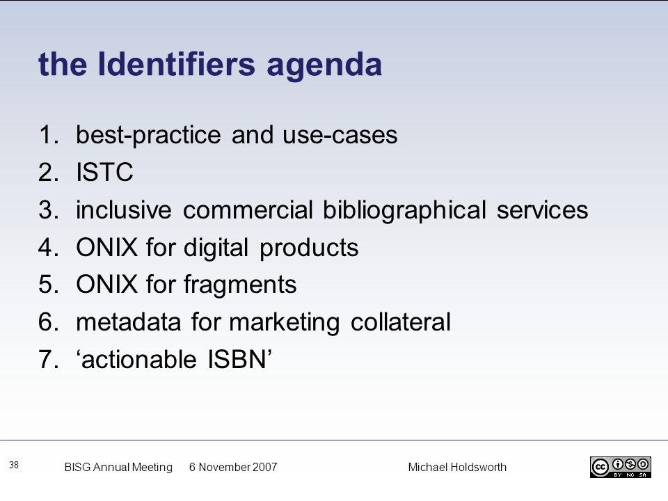 the Identifiers agenda