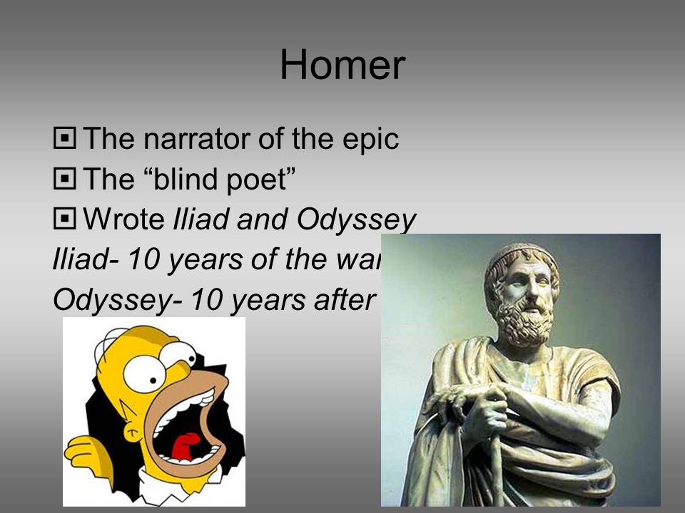 an analysis of the epic poem the iliad by homer 'the iliad' by homer is the epic poem that gives some background to the legend of achilles and the last few weeks of the ten-year battle between the greeks and.