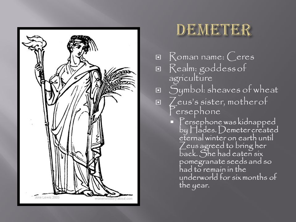 demeter the greek goddess of agriculture