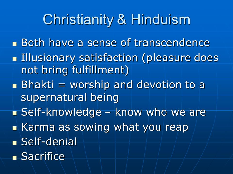 Christianity & Hinduism