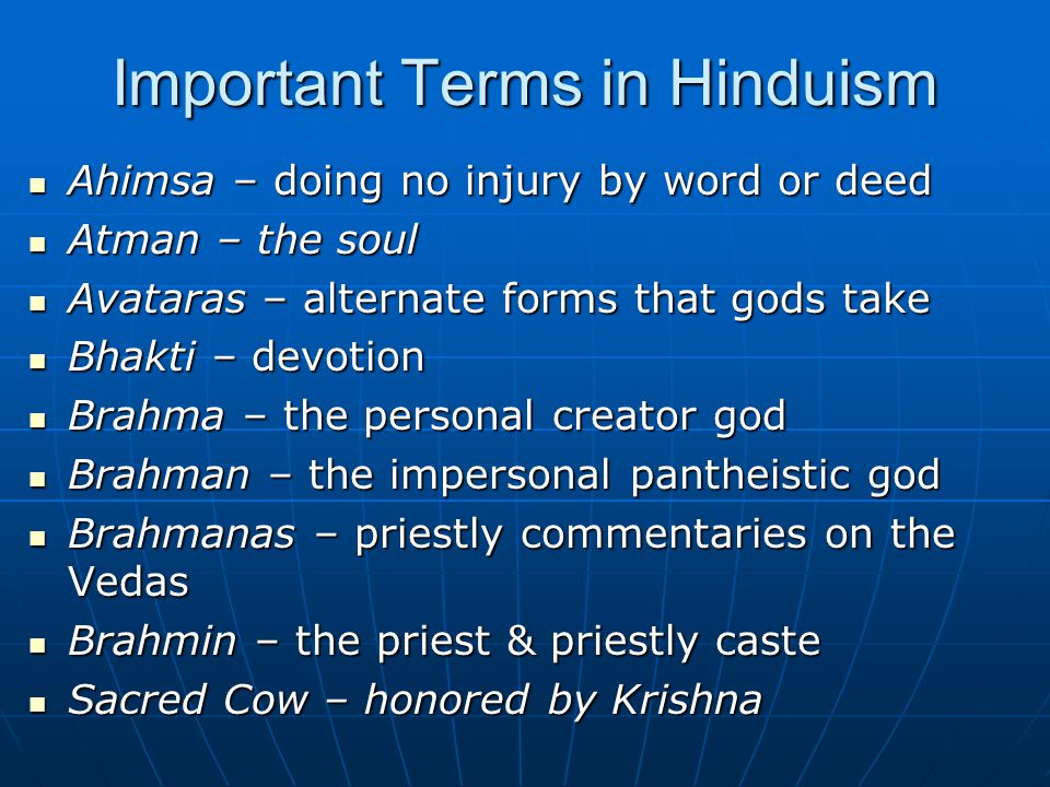 Important Terms in Hinduism