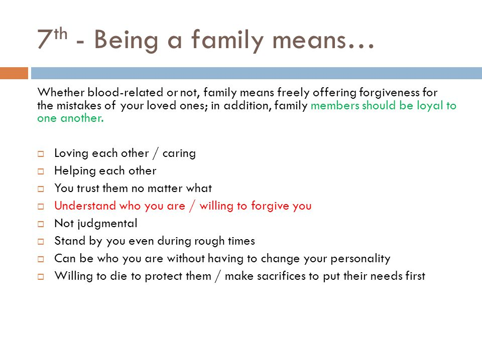 expository essay family prompt ppt 7th being a family means