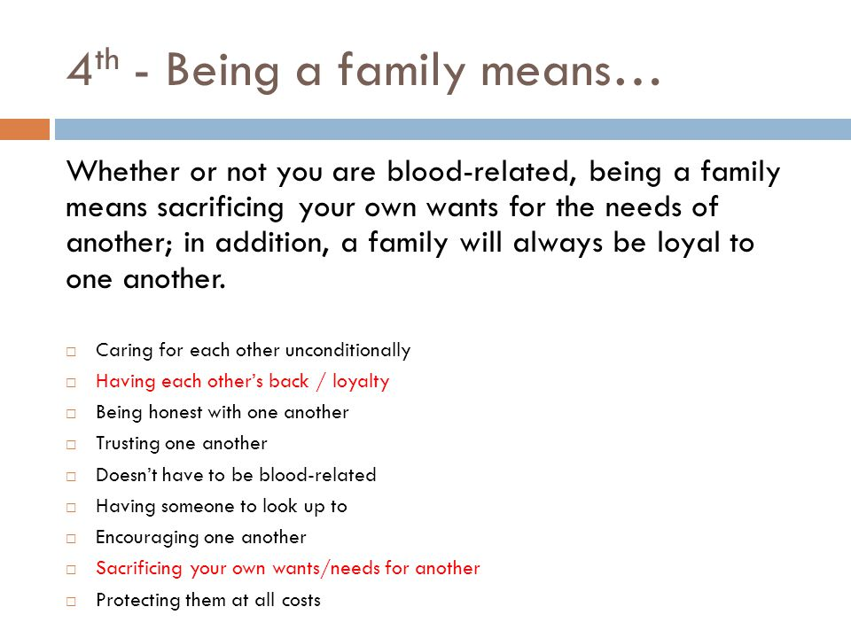 expository essay family prompt ppt  4th being a family means