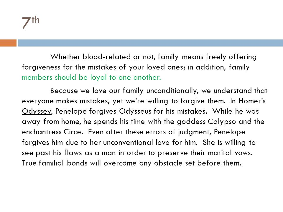 forgiveness thesis