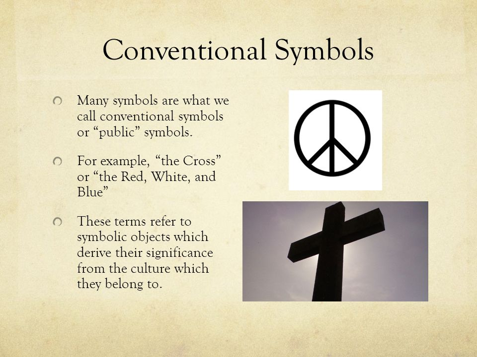 an example of symbol symbolism examples of symbols and symbols  symbolism ppt conventional symbols many symbols are what we call conventional symbols or public symbols