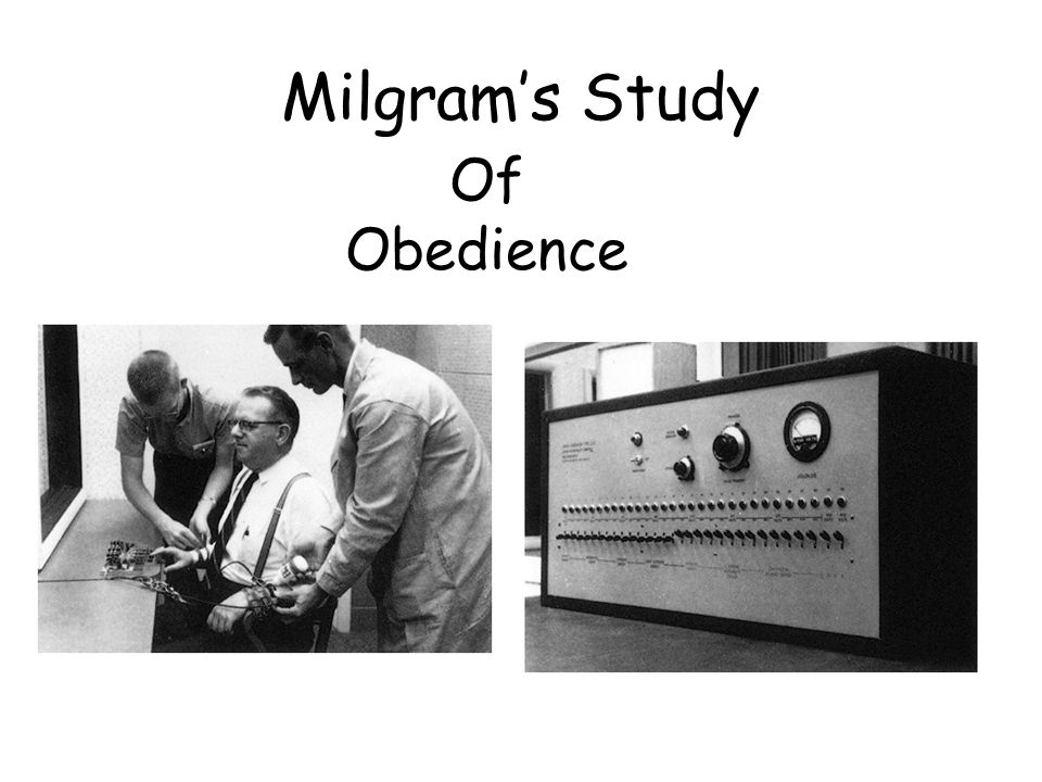 "factors involved in milgram s obedience study Reflections on ""replicating milgram""  milgram's film of the obedience research,  do such a study, but i really respect milgram's right to have done."