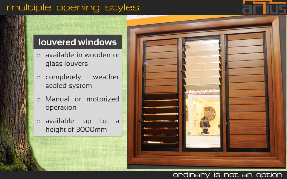 Typical wood windows in india ppt video online download for Window opening styles