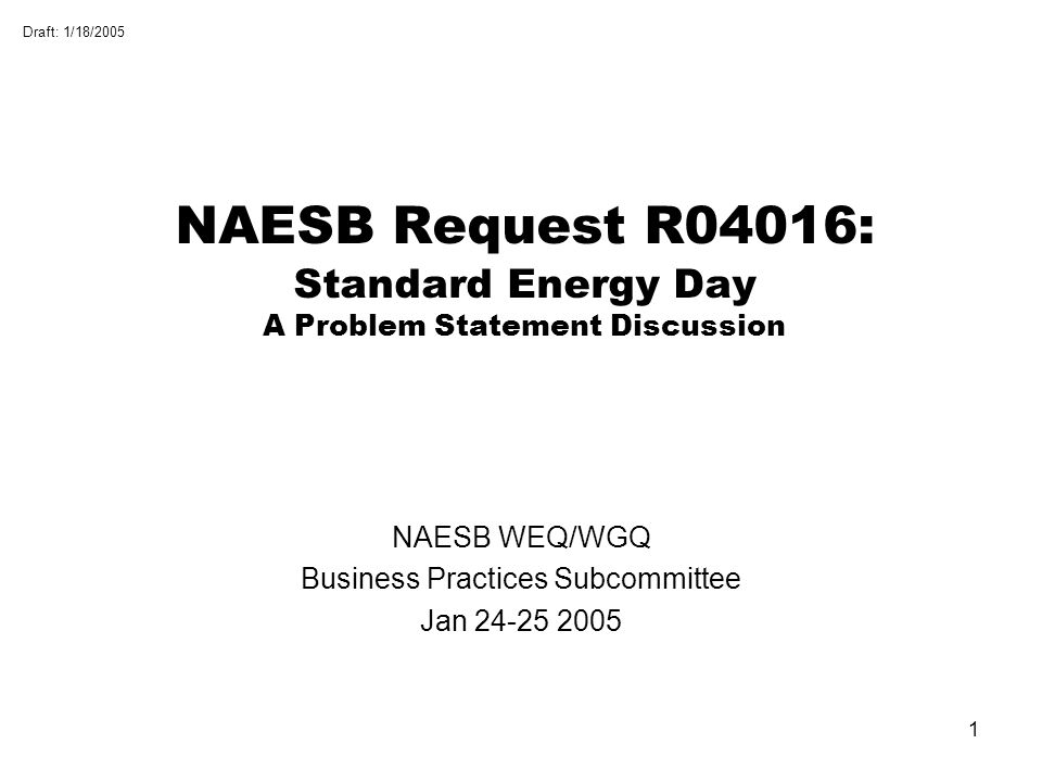 NAESB WEQ/WGQ Business Practices Subcommittee Jan 24-25 2005