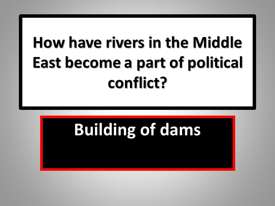 How have rivers in the Middle East become a part of political conflict