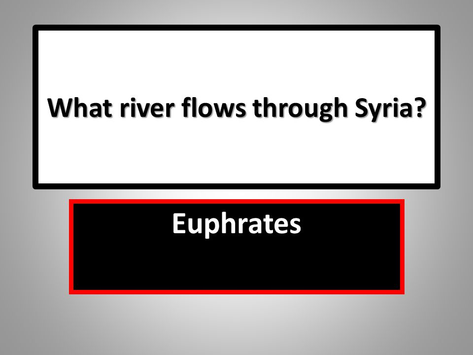What river flows through Syria