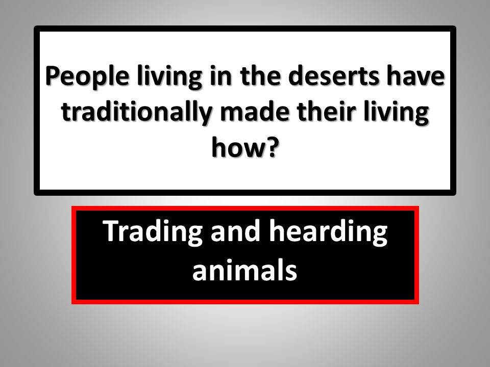 Trading and hearding animals