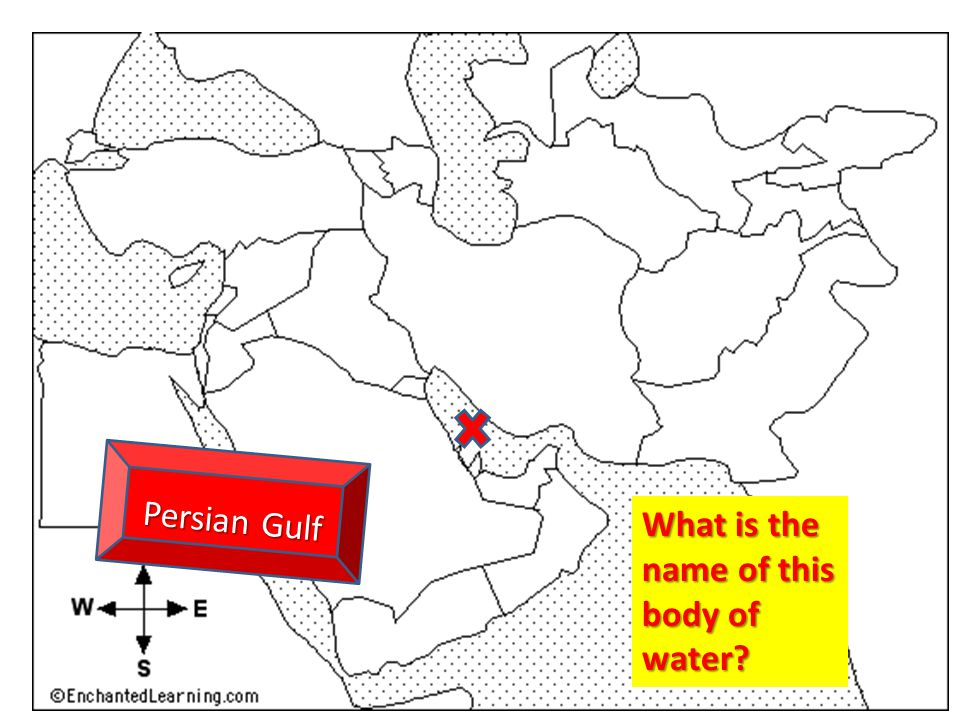 Persian Gulf What is the name of this body of water