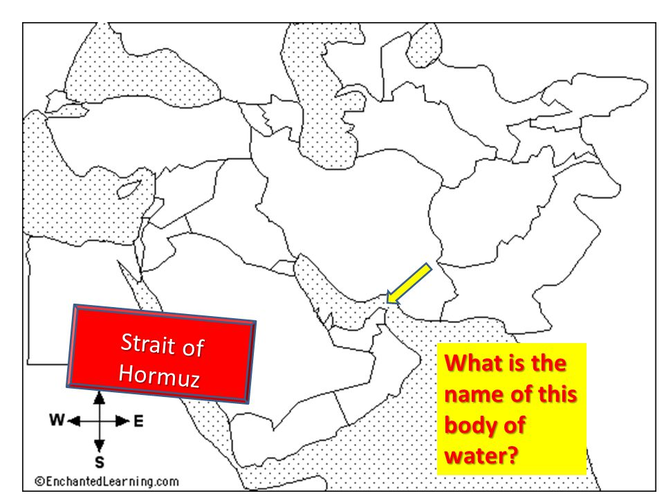 Strait of Hormuz What is the name of this body of water