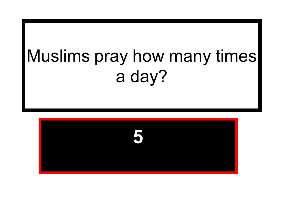 Muslims pray how many times a day