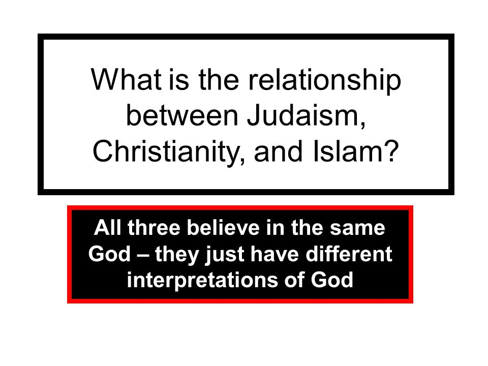 What is the relationship between Judaism, Christianity, and Islam